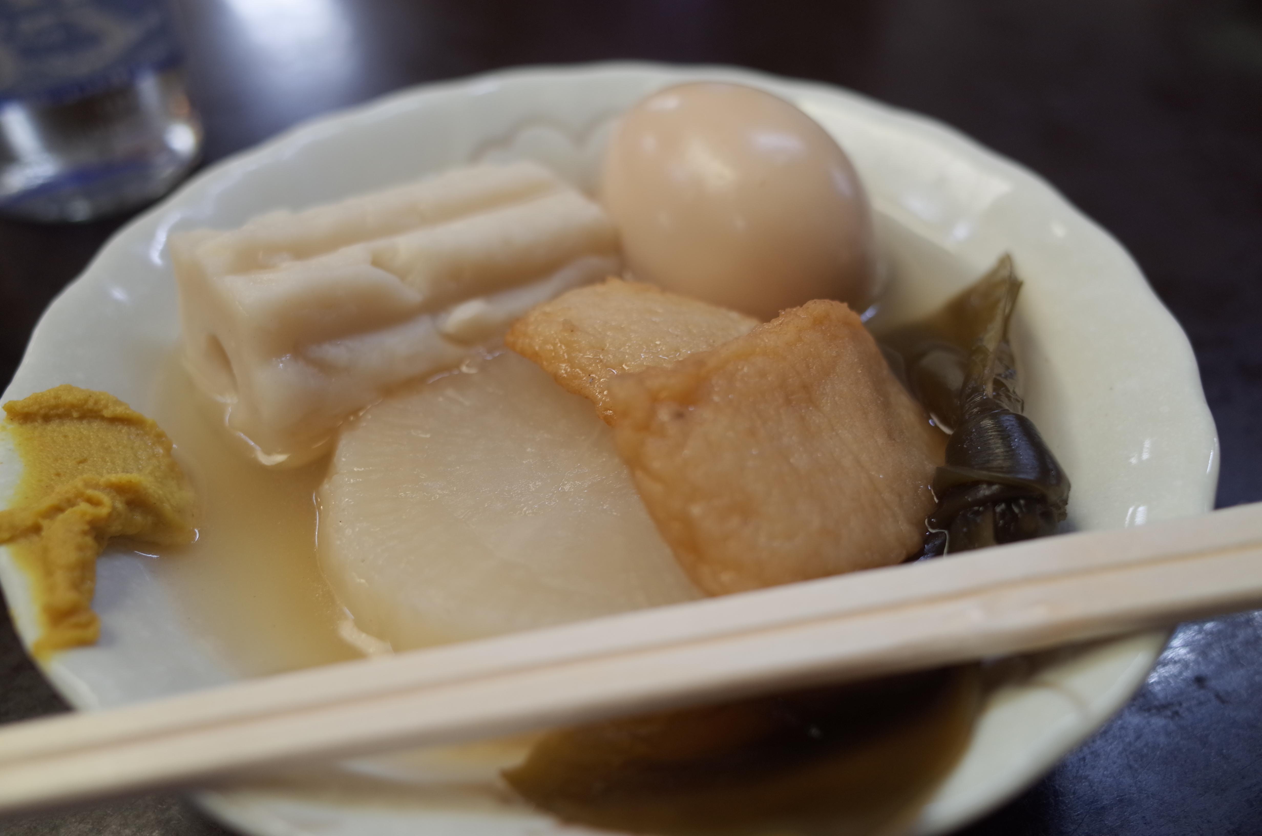 東京 赤羽 丸健水産のおでんと日本酒で昼飲み!出汁割りが美味い!