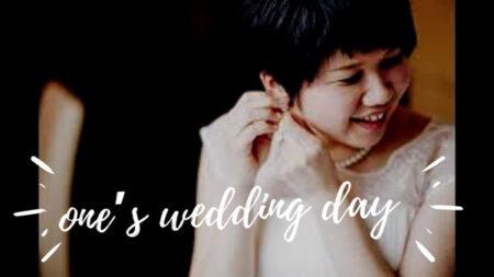 私たちの結婚式記念日、勇気に咲く花は私たちの人生のコンセプト。